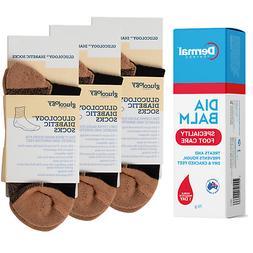 Foot Care | Glucology® Diabetic Socks | Cream Heel Cracked