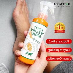 foot peeling spray natural orange essence pedicure