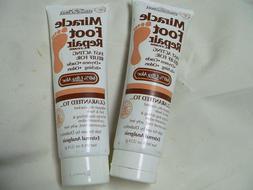 Miracle of Aloe Foot Repair Cream 8 ounce/ LOT OF 2