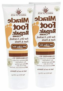 Miracle Foot Repair Cream 8 Ounce Tube, 2-Pack with 60% Ultr