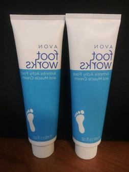 Avon~Foot Works~Arthritis Achy Foot and Muscle Cream~2.5oz~L