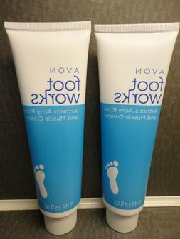 AVON FOOT WORKS ARTHRITIS ACHY FOOT AND MUSCLE CREAM 2.5 FL