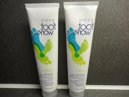 AVON FOOT WORKS HEALTHY ALL DAY FOOT DEODORANT CREAM - SEALE