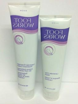 Avon Foot Works Lavender Clay Mask 3.4 + Overnight Treatment