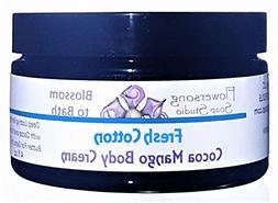 Flowersong Fresh Cotton Cocoa Mango Body Cream - Deep Lastin