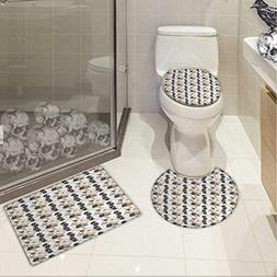 garden bathroom toilet mat set