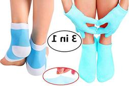Gel Moisturizing Spa Gloves and Socks Heel Socks for Dry Han