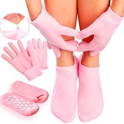 Gel Moisturizing Spa Gloves and Socks for Dry Feet - Fast Cr