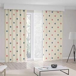iPrint Geometric Blackout Curtain,Traditional Polka Dots Pat