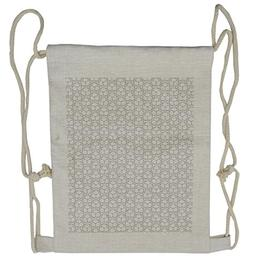 Ambesonne Geometric Drawstring Backpack, Football Hexagons,