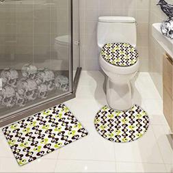 Carl Morris Geometric toilet mat set Sixties Ornamental Vint