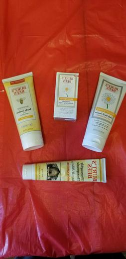 Gift Bundle Burt's Bees Foot Cream Facial Cleanser Even-Tone