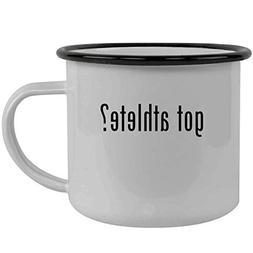 got athlete? - Stainless Steel 12oz Camping Mug, Black
