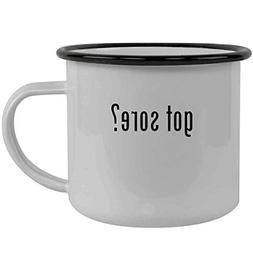 got sore? - Stainless Steel 12oz Camping Mug, Black