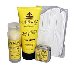 Naked Bee Mens Hand, Foot & Body Care 4 Piece Gift Set Featu