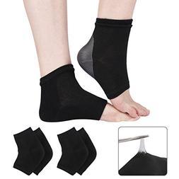 Codream 2 Pairs Heels Moisturizing Socks for Dry Cracked Hee
