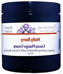 Blossom to Bath Holly Berry Cocoa Mango Body Cream  - Bright