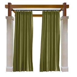 Macochico Outdoor Indoor Curtains Pinch Pleat Water Repellen