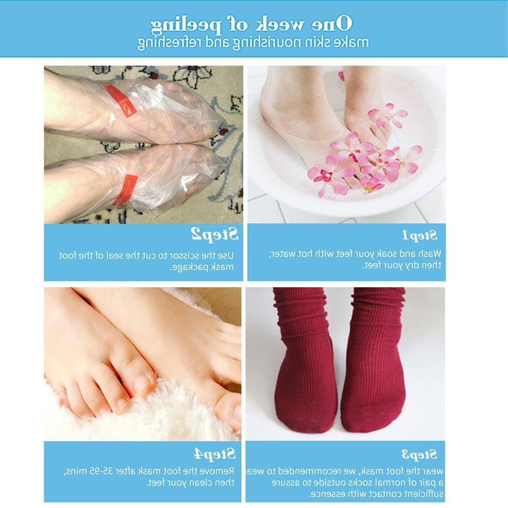 2pair Moisturizing Pedicure Exfoliating Smooth <font><b>Foot</b></font>