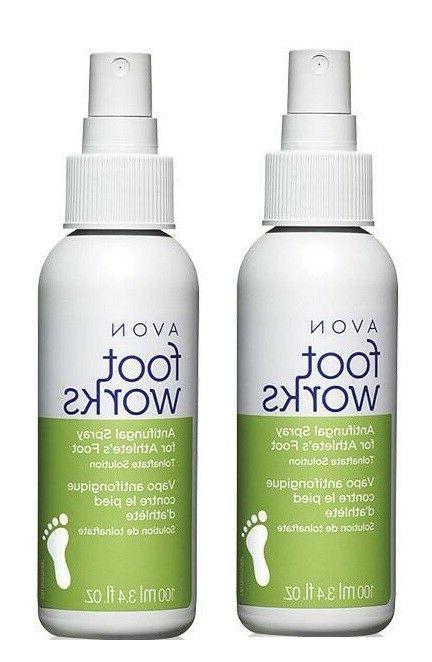 2x AVON FOOT WORKS Antifungal Spray For Athlete's Foot Tolna