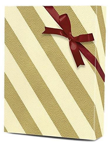 "30"" X 100' Gold/Cream Wide Gift Wrap"