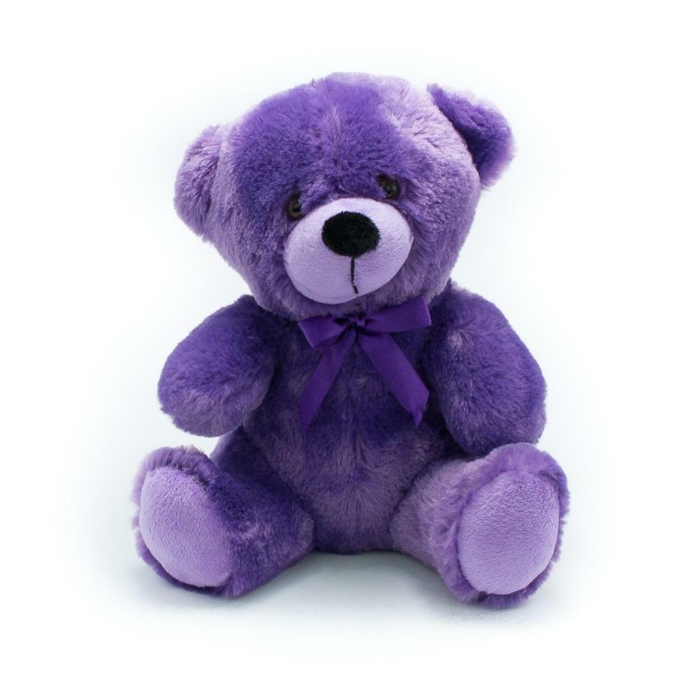 9 purple plush teddy bear stuffed animal