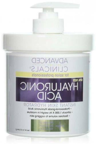 Advanced Clinicals Anti-aging Hyaluronic Acid Cream for face