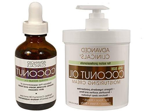 Advanced Clinicals Coconut Skin Care Value Set! 16oz Coconut