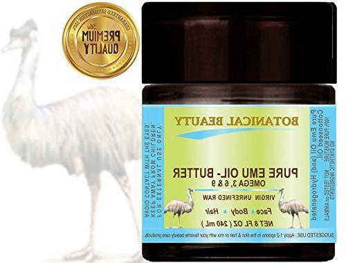 PURE EMU OIL - BUTTER. 100 % Natural - RAW - VIRGIN - UNREFI