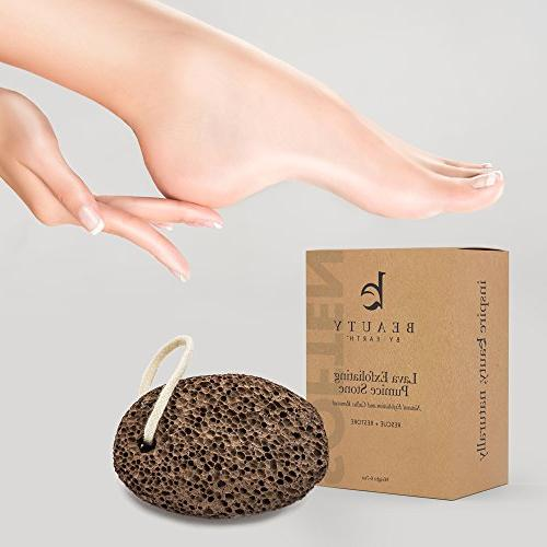 Pumice Stone Effective Callus Remover Pedicure Tool Remove Relieve Dry Heels, this Lava Stone as a Scraper Exfoliator for Feet