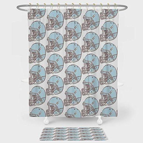 american football shower curtain floor