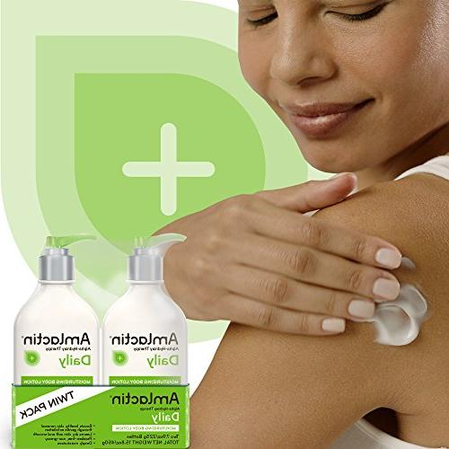 AmLactin Daily Moisturizing Lotion | Hydrates, Relieves Alpha-Hydroxy | Smooths Dry oz. Bottles