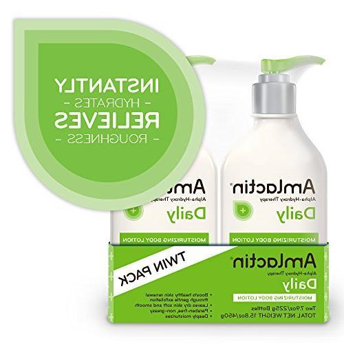 AmLactin Moisturizing Body Lotion Instantly Relieves   Alpha-Hydroxy Therapy Gently Exfoliates   Pack oz.