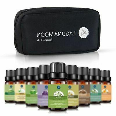 LAGUNAMOON™ Top 10 Pure Aromatherapy Essential Oils Set 10