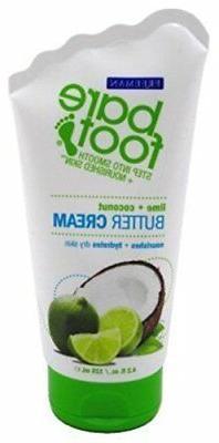 Bare Foot Cream, Lime + Coconut Butter, 4.2 Fluid Ounce