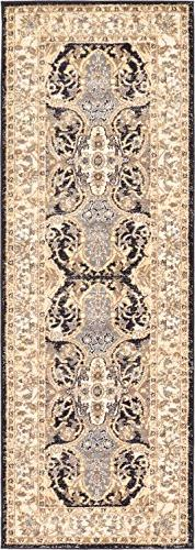 A2Z Rug Black 2' 2 x 6' - Feet Tradition Area Rug - Runner