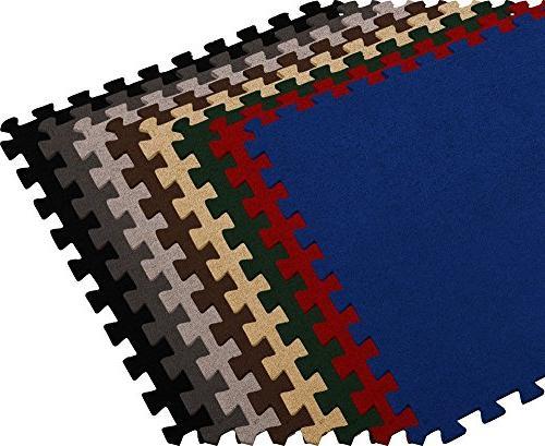 carpet interlocking floor tiles cream