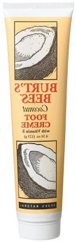 Burt's Bees Coconut Foot Creme with Vitamin E, 4.34 Ounce Tu