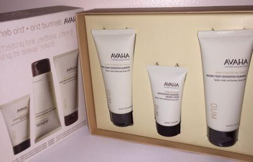 Ahava Dermud Trio Gift Set Hand Cream 3.4oz Foot cream 3.4oz