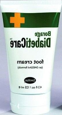 Borage DiabetiCare Foot Cream 4.2 oz with Omega-6 Formula fo