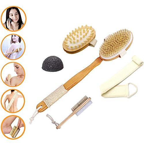 dry brush skin exfoliating set