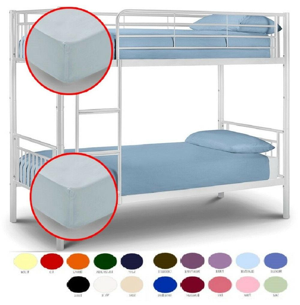 easy care plain dyed bunk bed fitted