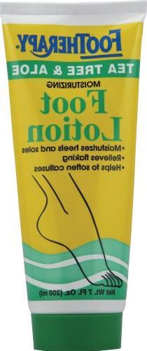 FooTherapy Foot Lotion, Tea Tree & Aloe, 7 Ounce