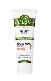 Foot Deodorant. Antiperspirant Cream. One Aplication Stops t