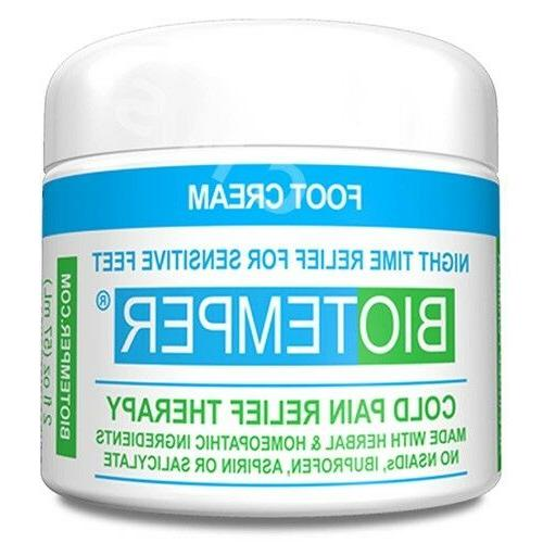 foot cream jar night time relief