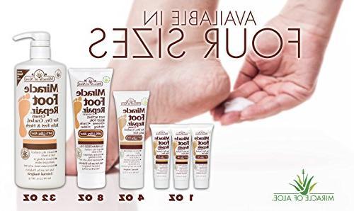 Miracle of Foot Cream 60% UltraAloe ounce tube display