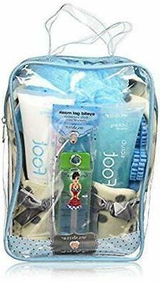 Bath Accessories Foot Spa Slipper Set, Cream Mocassisns Wint