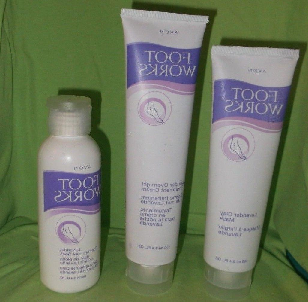 foot works lavender overnight treatment cream clay