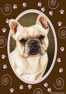 French Bulldog Cream Pink Paw Garden Flag 28'' x 40'' by Unk