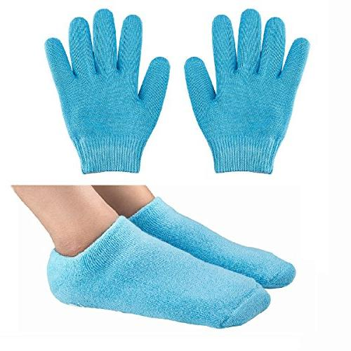 gel moisturizing spa gloves socks
